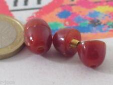 1 chiusura a vite in resina color marrone corniola scura misure 15x10 mm