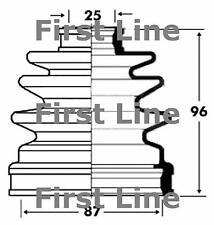 CV JOINT BOOT KIT FOR KIA FCB2832 FIRSTLINE