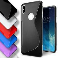Apple iPhone X Xs Silicone Gel S Line Case Cover Ultra Thin Slim Back Bumper