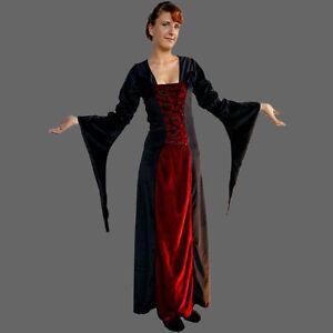 Mittelalterkleid Samtkleid, 3 Fb., XS-XXXL, Mittelalter Kleid Samt Kleid Gewand