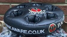 1 x INFLATABLE BACARDI RUM DRINK HOLDER TRAY NEW UNUSED IN PACKAGING