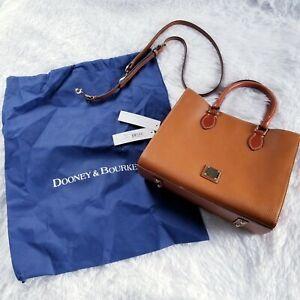 Dooney & Bourke Caramel Janine Crossbody Convertible Pebbled Leather
