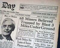 ROCKWOOD TN Tennessee Roane Iron Mine Explosion DISASTERS Miners 1926 Newspaper