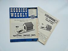 Hobbies Weekly with Kennel Money Box Pattern February 25th  1959  n. 3304