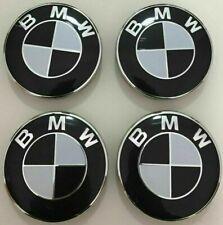 SET 4 TAPPI COPRIMOZZO LOGO BMW 68mm SERIE 1 2 3 4 5 6 7 Z  BORCHIE CERCHI LEGA