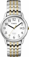 Timex T2P295, Easy Reader, Men's, 2-Tone Expansion Watch, Indiglo, Date