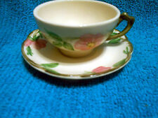 VTG Franciscan Desert Rose Cup and Saucer Made in England Backstamp