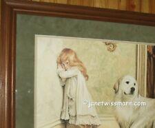"Fine Art Painting Print Great Pyrenees Pyrenean Mountain Dog 16x23"" J.Wissmann"