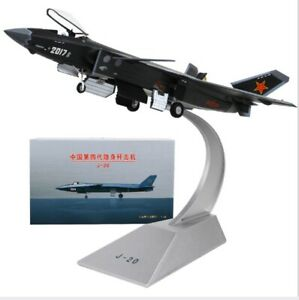 1/48 Diecast J-20 Aircraft Model Airplane Fighter Model Camouflage Service Ver.