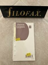 New Listingfilofax Book Personal Size Cotton Cream Plain Notepaper Refill Insert 132453 New