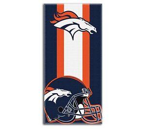 "New Football Team Denver Broncos Beach Towel Bath 30'' x 60"" Licensed"