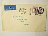 ANGLETERRE NOTTINGHAM 1967 Airmail Lettre Poste Aérienne collection Timbre Stamp