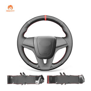Carbon Fiber Leather Car Steering Wheel Cover for Chevrolet Cruze Orlando Sonic