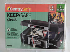 *NEW* SentrySafe KS100 KEEP/SAFE Chest - Black - Fire Chest Fireproof Lock Box