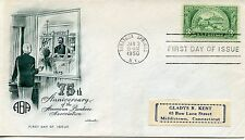 FDC/ FIRST DAY COVER / AMERICAN BANKERS / SARATOGA SPRINGS 1950