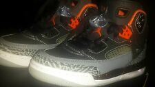 Air Jordan Spizike BG  Black / Orange - Grey  Sz 6.5Y - Women's Sz 8