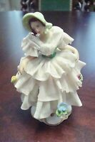 "DRESDEN LACE TUTU-BALLERINA 1900/1940's Germany 4 1/2"" tall"