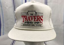 Vintage The Travers Truckers Cap Hap One Size Snapback White Aug 22, 1992 Rare