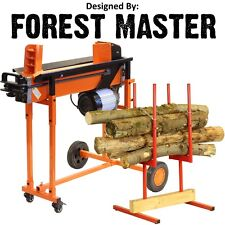 8 TON HEAVY DUTY HYDRAULIC ELECTRIC LOG SPLITTER & BULK SAW HORSE MULTI HOLDER