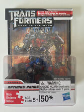 "Transformers Dark of the Moon Optimus Prime 50 Pc Puzzle w/ 2"" Figure & Display"