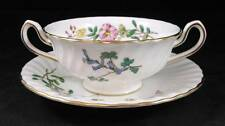 Minton DAINTY SPRAYS Cream Soup Bowl with Saucer Bone China S511 GREAT CONDITION