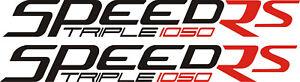 Triumph 1050 Speed triple RS vinyl stickers