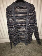 ASOS Man Aztec Print Knitted Cardigan Size Small