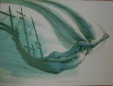 Lithografie Francis de Saint-Genies - Mermaids