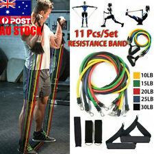 100LB Heavy Duty 11PCS Home Gym Exercise Yoga Training Fitness Resistance Band