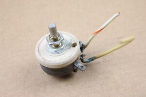 "Ohmite Rheostat Vintage Ceramic Potentiometer 50 Ohm 1/4"" Shaft USA Porcelain"