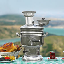 Charcoal / Wood Samovar Camping Water Heater Stove BBQ Tea Kettle & Tent Stove