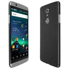 Skinomi Brushed Steel Skin+Clear Screen Protector for ZTE Axon 7 Mini