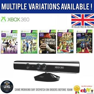 Xbox 360 Kinect Sensor Bar + 1 Game Without PSU Multiple Options perfect Gift