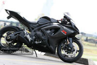 Fairing Bodywork Kit ABS Fairings Fit 2008-2010 Suzuki GSX-R750 600 Matte Black