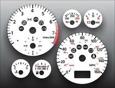 1998-1999 Audi A4 B5 Dash Cluster White Face Gauges 98-99