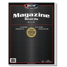 "25 loose BCW Brand 8 1/2"" Magazine Backing Backer Boards"
