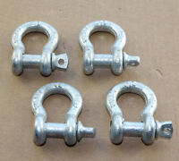 """9x 3/8"""" Shackle Screw Pin Anchor Rigging D Ring Shackles f Chain Cable Tow Truck"""