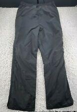 Columbia Adult Snow Pants Black XLT Ride On Snowmobile 1991 Full Zip Nylon G2