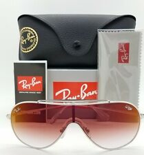 NEW Rayban Wings sunglasses RB3597 003/V0 33 Silver Red Gradient AUTHENTIC 3597