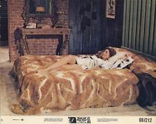 Eye of the Cat original 1969 lobby card Gayle Hunnicutt lies on fur bed sexy