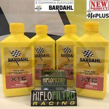 Kit 4 Litri Bardahl Bardhal XTC C60 10w50 4T + Filtri Olio KTM 625 SMC 2004 2005