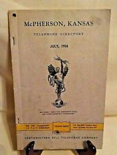MCPHERSON KANSAS YELLOW PAGES JULY 1956 DIRECTORY SOUTHWESTERN BELL TELEPHONE.