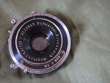 120mm f/6.8 Schneider Angulon in Press Compur shutter.