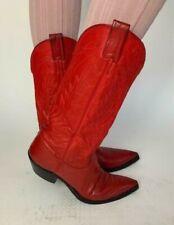 Nocona Women's 9.5 B, Nocona Red Deertan Western Leather Boots
