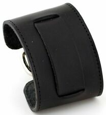 Nemesis STW-KK Black Wide Leather Cuff Wrist Watch Band