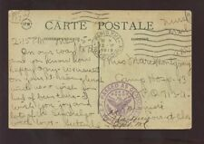 FRANCE 1919 US ARMY MAIL PPC PASSED AS CENSORED