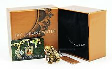 "Jay Strongwater leopard charm ""Mara"" color amber brand new in the box"