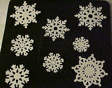 STAMPIN UP NORTHERN FROST SNOWFLAKES CUTS ~ 24 pcs. ~ WHISPER WHITE