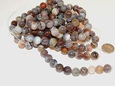 Botswana Agate 10mm round Gemstone Beads (7253)
