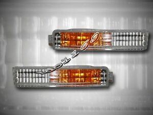 Fit For 1990 - 1991 Honda Accord Clear Front Bumper Signal Lights